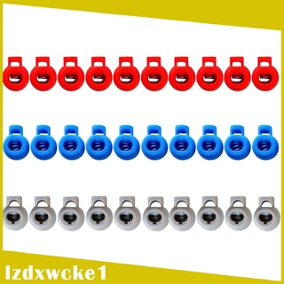 Sportfy 30 Pcs Plastic Shock Cord Rope Toggle End Lock Stoppers Ball Buckles 3color