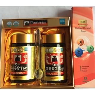 Cao hồng sâm 365 Hàn Quốc 2 hũ 480gr (tặng 1 hộp dầu lạnh omega3), cao hồng sâm bồi bổ sức khỏe, PP Sâm yến Thái An thumbnail