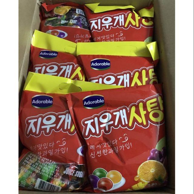 Combo 5 gói kẹo dẻo trái cây Adorable Hàn Quốc