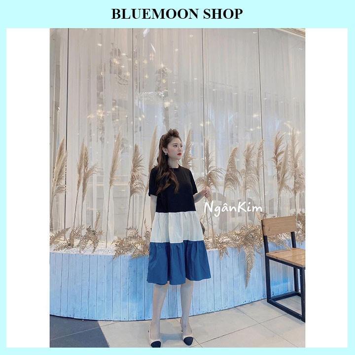 Mặc gì đẹp: Dễ chịu với Váy Bầu Cao Cấp 💕 FREE SHIP 💕 Váy Bầu Thời Trang Thiết Kế Dáng Suông Phối 3 màu Siêu Đẹp