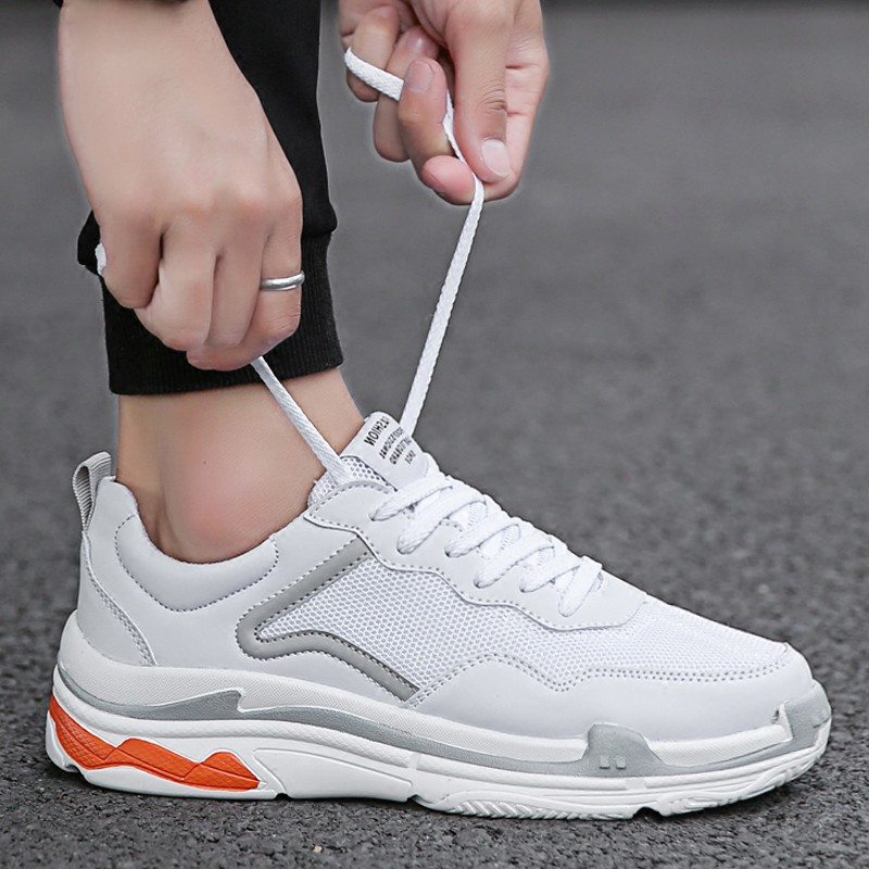 Spring 2018 white men's shoes Korean version of the trend of
