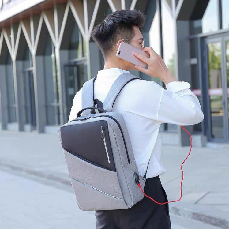 Balo laptop, ba lô đựng laptop thời trang chống trộm hỗ trợ cổng sạc điện thoại tiện lợi