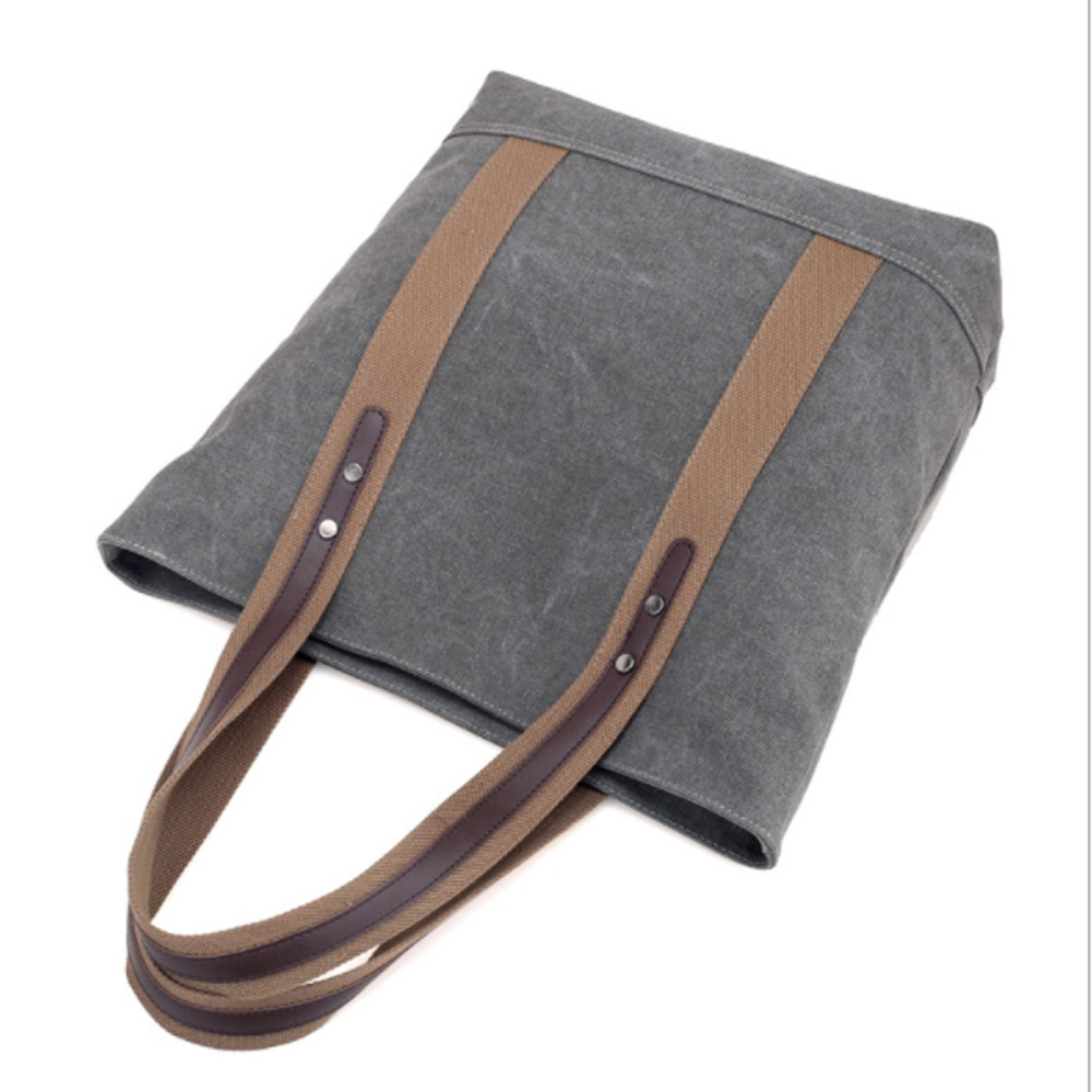 Túi tote canvas chất vải bố cao cấp, túi tote vải có khoá kéo chắc chắn phù hợp đi làm, đi học