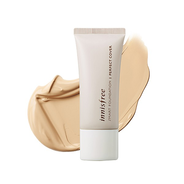 Kem Nền Che Phủ Hoàn Hảo Innisfree Smart Foundation Perfect Cover 15ml