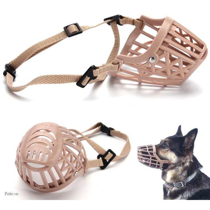Rọ mõm thoáng khí chống cắn cho chó mèo giá rẻ nhiều size, có thể điều chỉnh kích thước