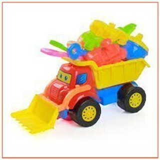 (SALE HOT)Tốt Xe ủi đất đồ chơi chất lượng tốt cho trẻ em chứa đồ chơi biển