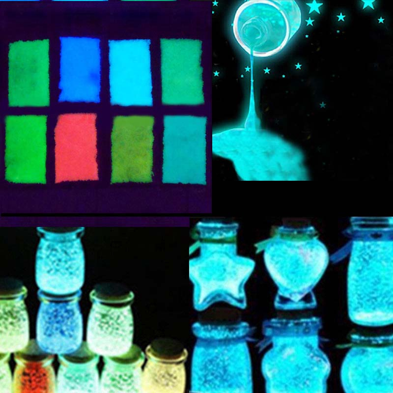 New Stylish Glow in the Dark Luminous Paint Bright Pigment Decoration DIY Party