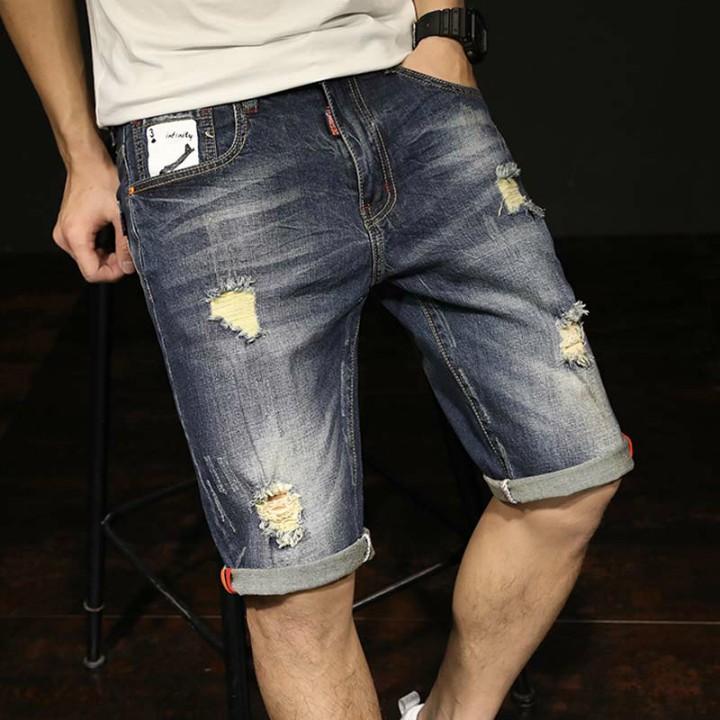 quần lửng jeans hình bài poker Mã: NL0496