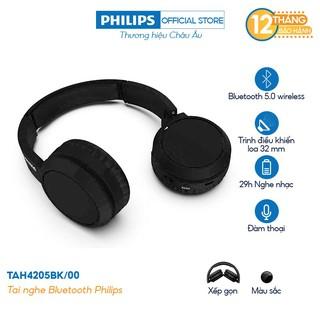 Tai nghe Philips Bluetooth TAH4205BK/00 - Màu đen - Hàng Chính Hãng