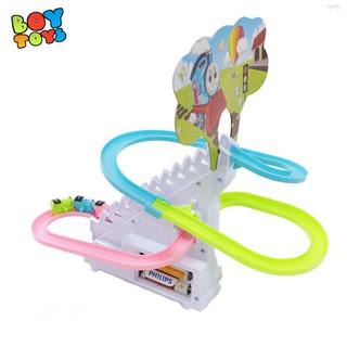Bộ đồ chơi tàu lượn leo cầu thang có nhạc và co đèn ngộ nghĩnh cho bé