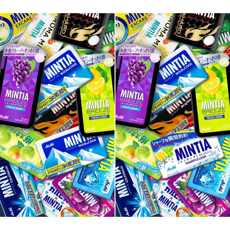(20 vị) Kẹo ngậm bạc hà Mintia 50 viên nhỏ (Sugarless)