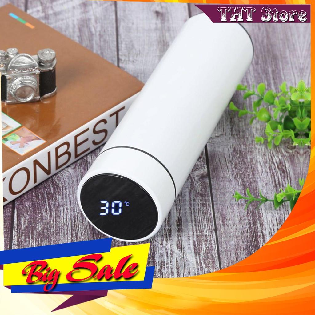 Bình giữ nhiệt Inox có Đèn LED hiển thị nhiệt độ ( Dung tích 500ml )