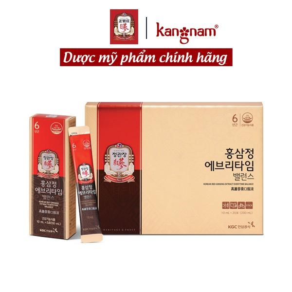 Tinh Chất Hồng Sâm Pha Sẵn KGC Cheong Kwan Jang Extract Everytime Balance 20 gói