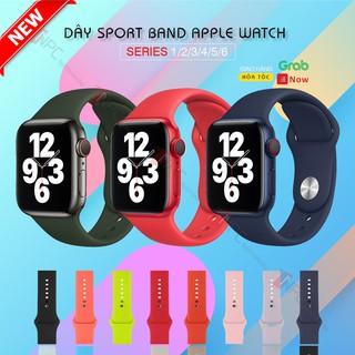 [🅂🄴🅁🄸🄴🅂 6 🄽🄴🅆] Dây Cao Su Sport Band Apple Watch Series 6|SE|5|4|3|2|1 Kích thước 38mm 40mm 42mm 44mm Nhiều Màu