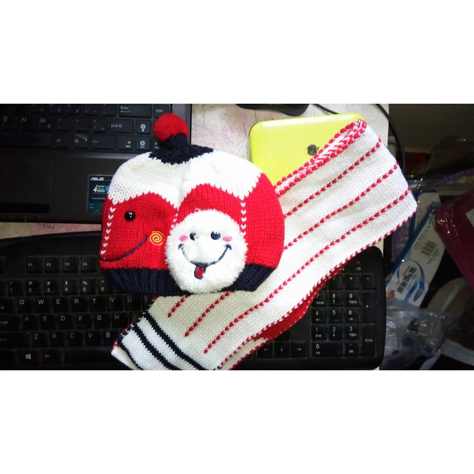 Bộ mũ len và khăn quàng cổ cho bé trai, gái từ 6 tháng đến 3 tuổi (ảnh thật )