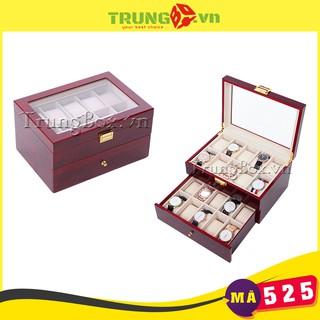 Hộp Đựng Đồng Hồ 20 Ngăn Vỏ Gỗ Sơn Mài SAIKE - Mã 525 thumbnail