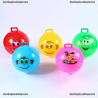 (EverthingGooddown.vn)Inflatable Hopping Jumping Ball Bouncer Hopper Handle Kids Outdoor Fun Beach Toy