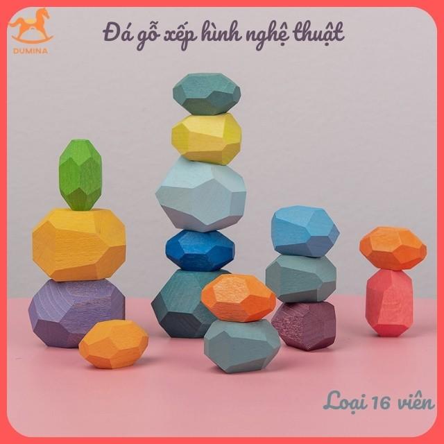 Đồ chơi gỗ cân bằng Đá gỗ cân bằng TUMI ISHI Trò chơi xếp chồng đá gỗ JENGA 16 VIÊN