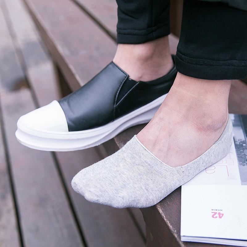 Combo 2 Vớ đi cho giày lười unisex V.1 (màu xám) - Muasamhot1208