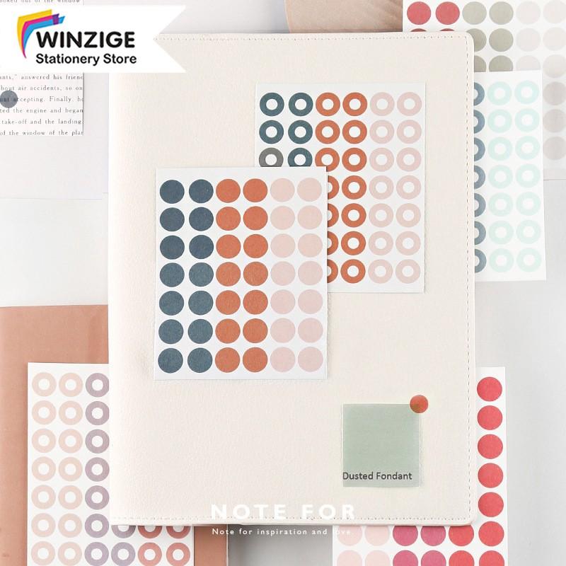 Bộ 126 hình dán Winzige chấm tròn cho trang trí thủ công