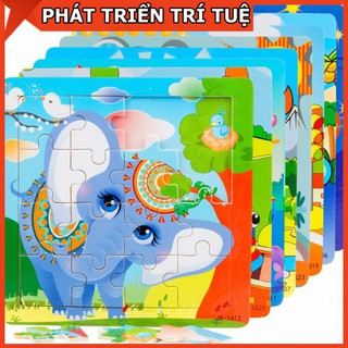Ghép Hình Puzzle💝FREESHIP💝COMBO 5 Tranh Ghép Hình Puzzle 16 Miếng Cho Bé Tập Vận Động Tinh