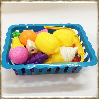 [Tặng Bộ Bóng Rổ Mini] Giỏ Hoa Quả Và Bánh Kem [Đồ Chơi An Toàn Cho Trẻ Em]
