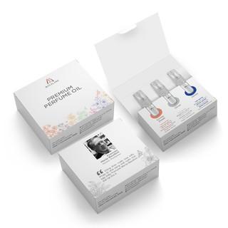 Combo 3 chai nước hoa sample đậm đặc dành cho nam và nữ Lovely Sweet - Gentle - Silver 2ml chai MACALAND thumbnail