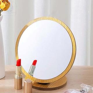 Gương Gỗ Để Bàn, Gương Trang Điểm Bằng Gỗ Để Bàn Phong Cách Hàn Quốc Moda.H