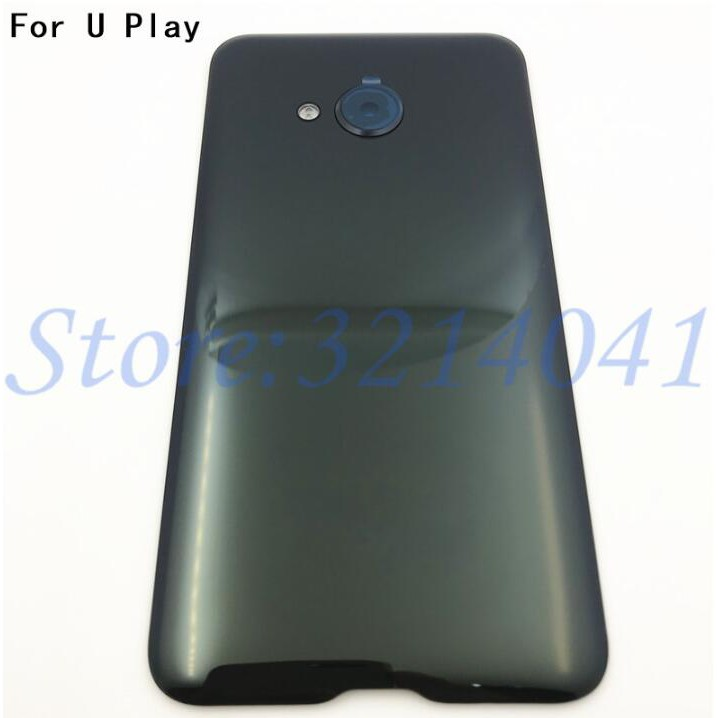 Original 5.2 inches For HTC U Play Back Battery Cover Rear Glass Door Housing Case With Camera Lens Replacement+Logo