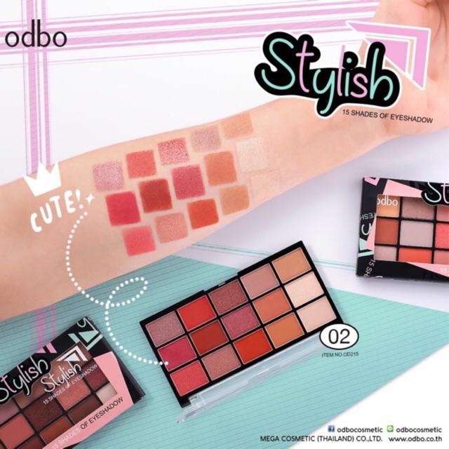 Phấn Mắt Odbo Stylish 15 Shades Of Eyeshadow OD215
