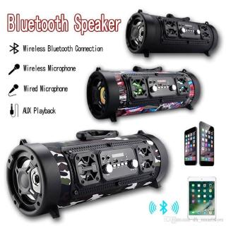 Car Speaker CH-M17 Portable Wireless Bluetooth Bass Surround LED Sparkling Support TF Card with Mic