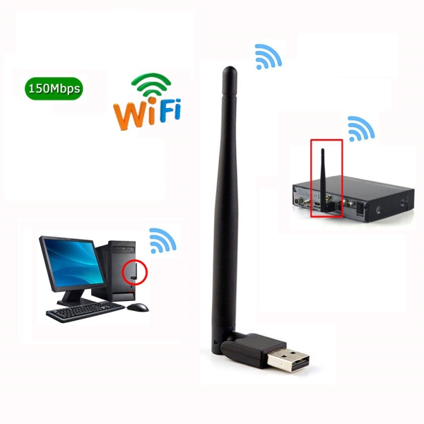 Mini Wireless Wifi 7601 2.4Ghz Wireless Adapter for DVB-T2, DVB-S2 TV Box -IP Giá chỉ 59.499₫