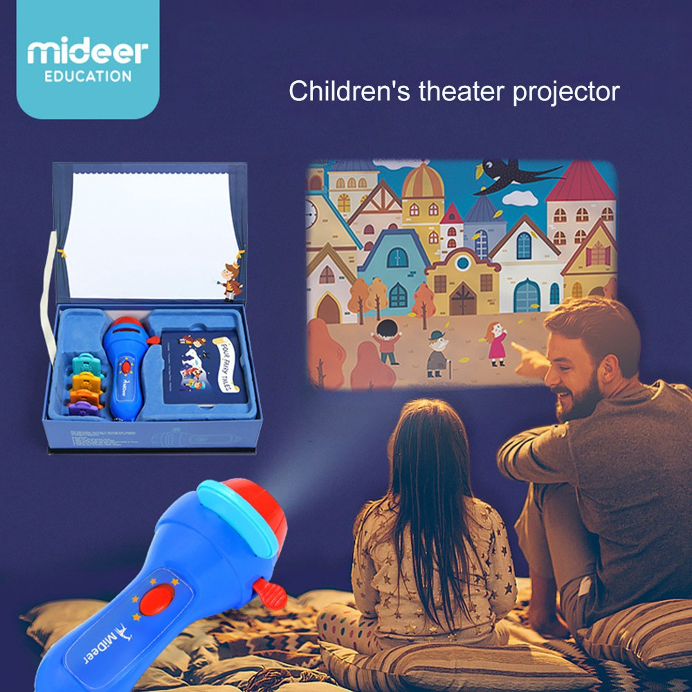 Creative Toy Projector Learning Storytelling Flashlight For Children 4 Stories