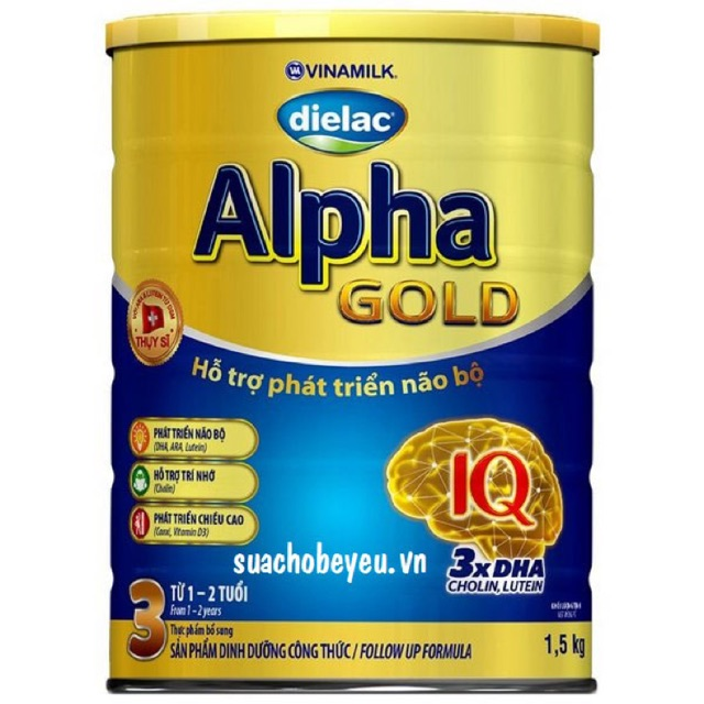 Sữa bột dielac Alpha Gold 3 lon 1500g