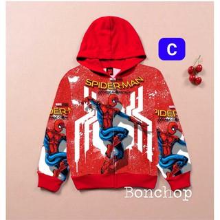 Áo Khoác Người Nhện Siêu Nhân Marvel Cho Bé Trai (Có Túi 2 bên) AKT01 thumbnail