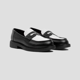 Giày Lười Nữ THE WOLF Penny Loafer - Đen Trắng thumbnail