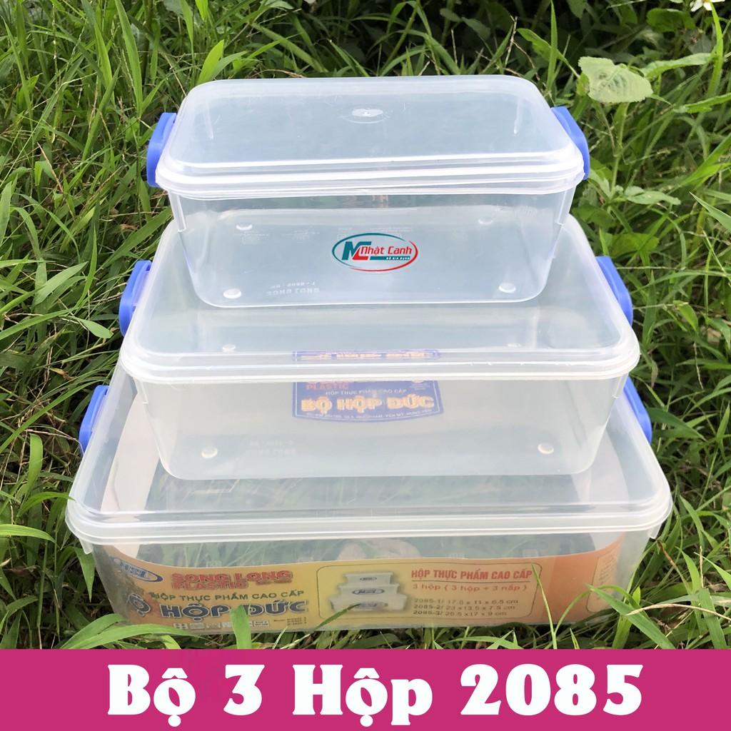 Bộ hộp bảo quản thực phẩm bằng nhựa sử dụng được trong lò vi sóng