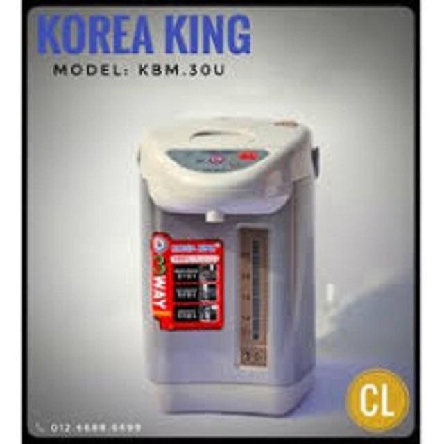 Phích thủy điện Korea King KBM 30U (3 Lít)