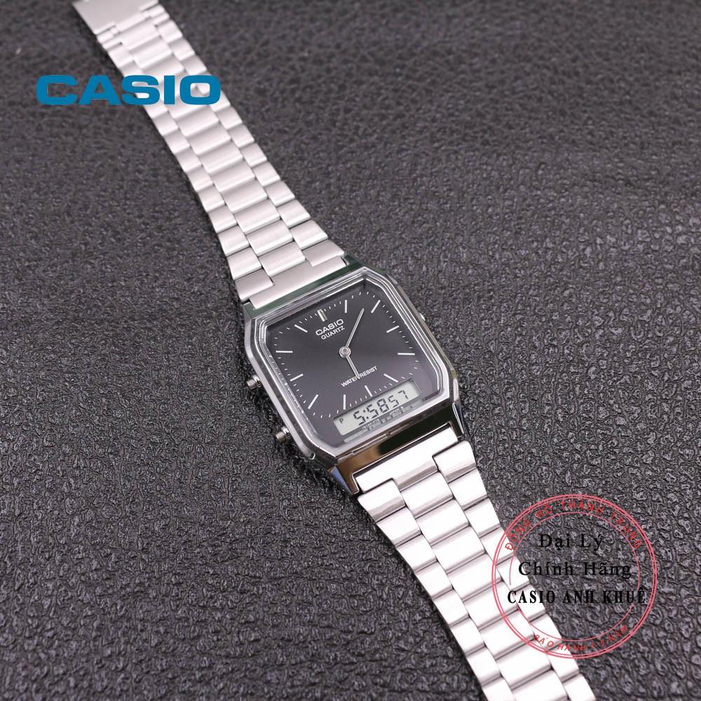 Đồng hồ Unisex Casio Vintage AQ-230A-1DMQ dây kim loại