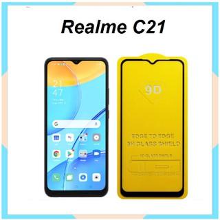 Cường Lực 9D Realme C21 Full Màn Hình Full Keo Siêu Hót Tặng Phụ Kiện Dán