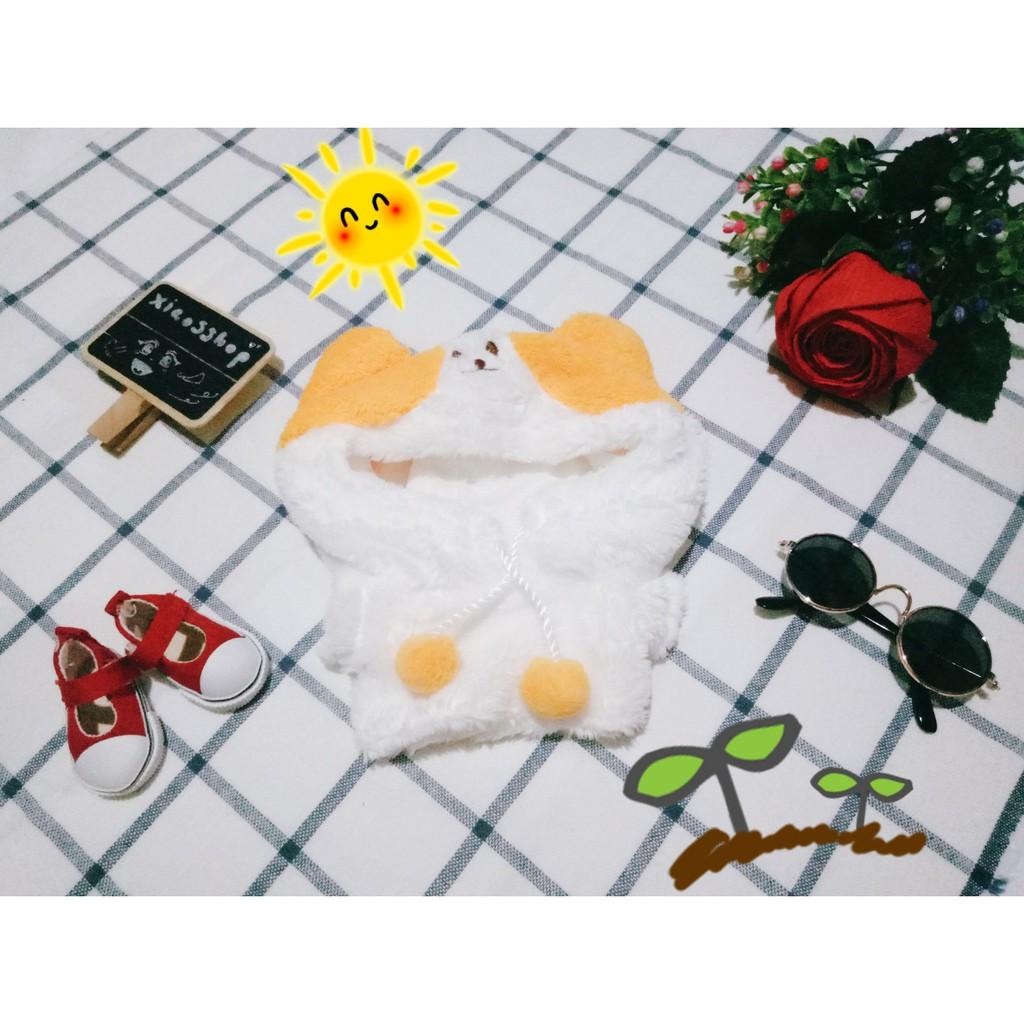 Hoodie Shiba Inu cho doll 20cm (trang phục búp bê) [hàng order - ảnh thật shop chụp]