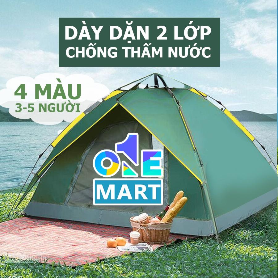 [Dày Dặn] Lều Cắm Trại Du Lịch Tự Động 3-5 người, Chống Nước, Chống Tia Tử Ngoại, Lều Tự Bung