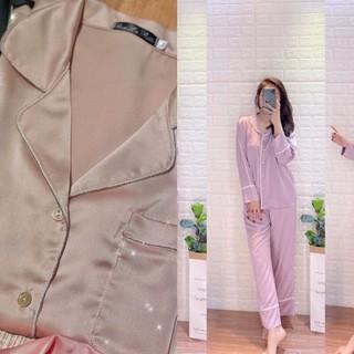 Bộ ngủ pijama lụa satin mềm mượt, k nhăn, mang lại cảm giác dễ chịu cho người mặc. Phù hợp với mọi lứa tuổi ❤️🎈🎈🎈🎈🎈