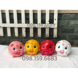 Lợn đất tiết kiệm – Lợn cười size to mũ bảo hiểm