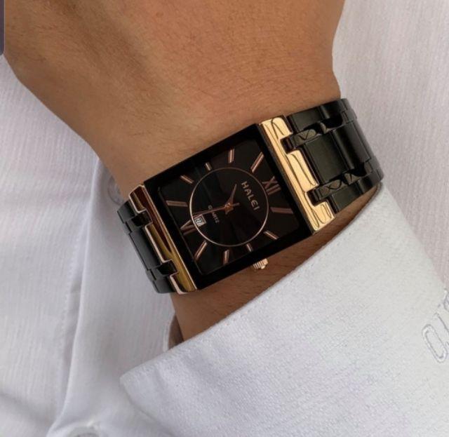 Đồng hồ nam halei mặt vuông chống nước