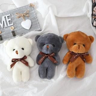 Gấu bông teddy mini làm quà tăng, gắn móc khoá cực dễ thương- thú bông đồ chơi nhỏ xinh nhiều màu sắc thumbnail