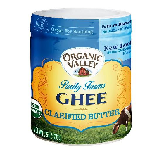 Bơ Ghee hữu cơ Organic valley hủ 212g