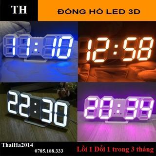 Đồng hồ LED 3D Smart Clock treo tường, để bàn. Đồng hồ kĩ thuật số