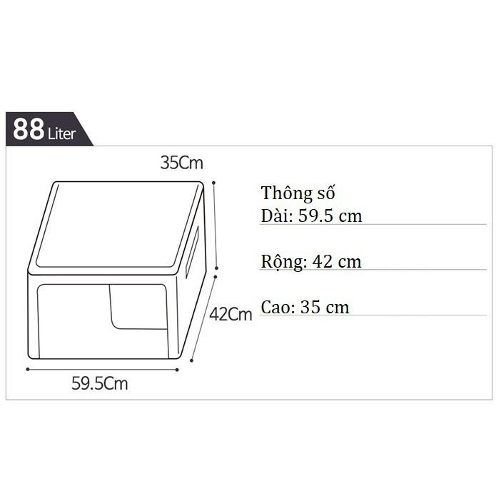 TÚI ĐỰNG QUẦN ÁO KHUNG THÉP 88L- LIVING BOX 88L