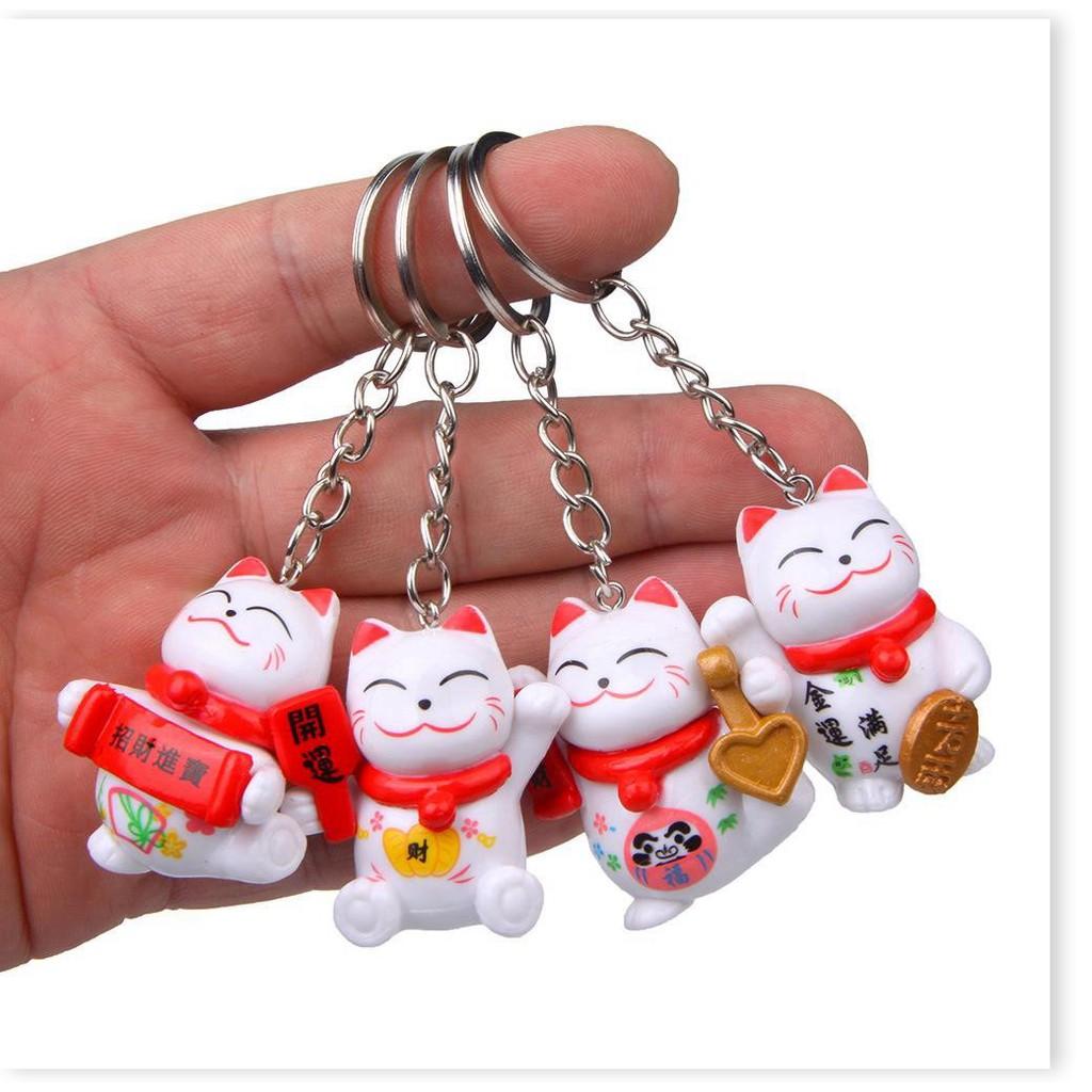 Móc khóa  1 ĐỔI 1    Móc khóa mèo may mắn làm từ nhựa cao cấp, dễ thương giúp bạn nổi bật khi ra đường 6265
